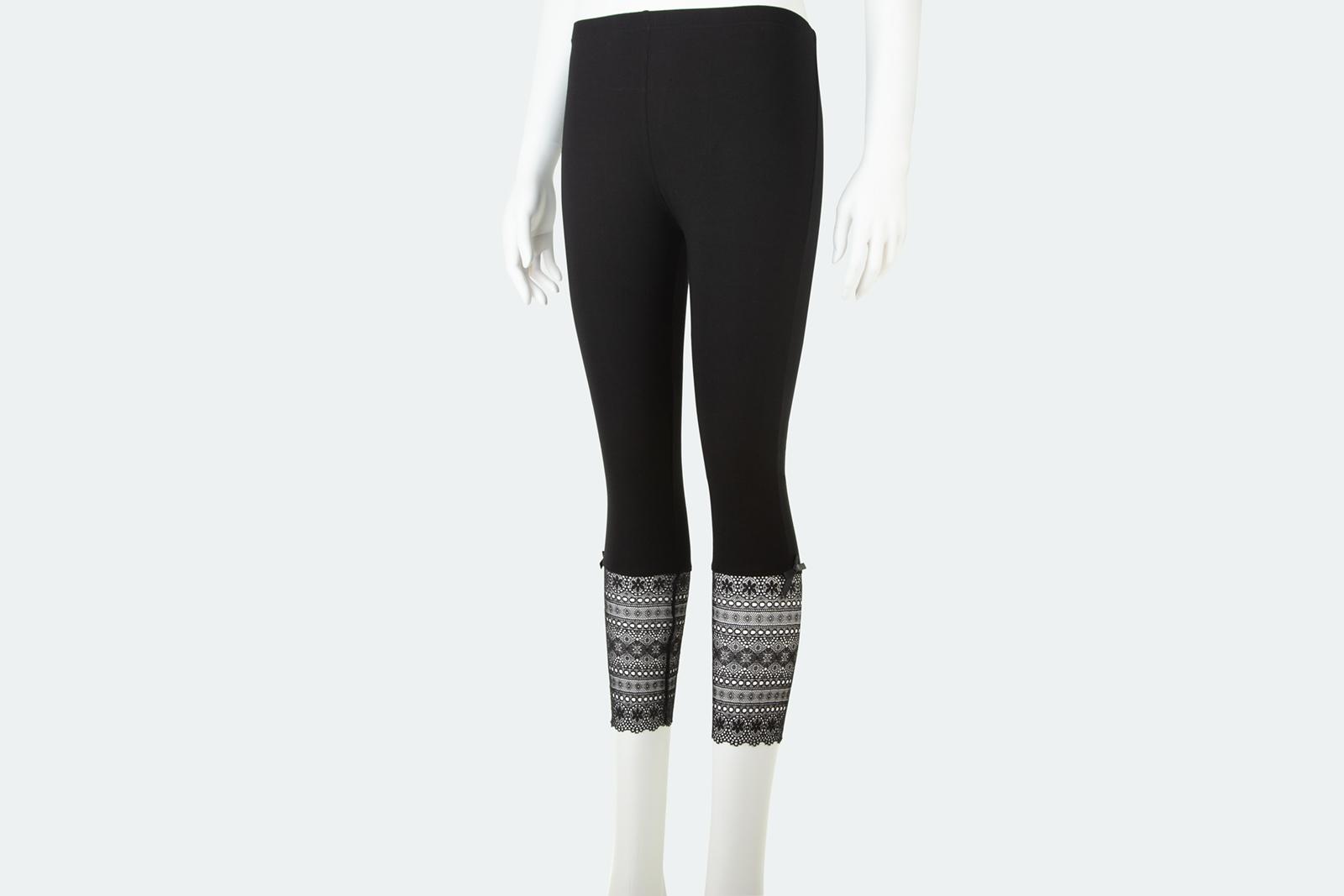 c635f8166e30e2 Lace Bottom Leggings - Metalika